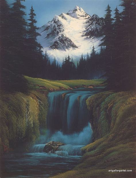 bob ross painting a waterfall 573 best bob ross cool images on bob ross
