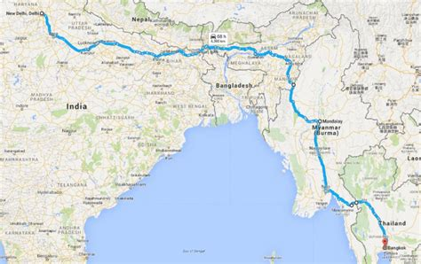 highway section india myanmar thailand asian highway section becomes