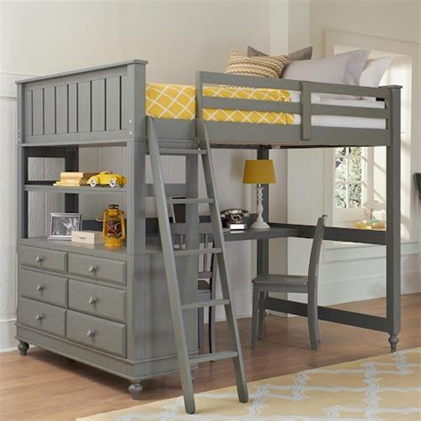 Bunk Bed With Desk And Dresser Ne Lake House Loft Bed With Desk And Dresser Sheely S Furniture Appliance Loft Beds