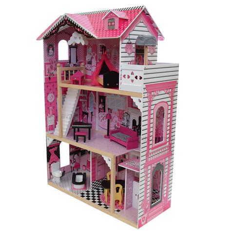 barbie doll house wooden alexandra wooden doll house with elevator furniture kids