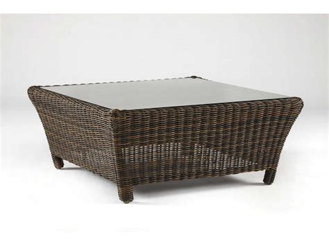 south sea rattan wicker sectional 36 square glass