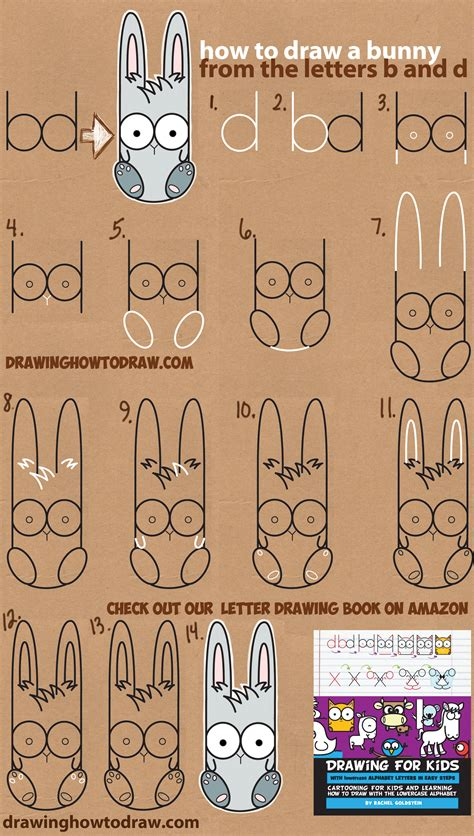 Drawing B Letter by How To Draw A Bunny Using Lowercase Letters B