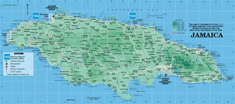 jamaica map map of jamaica from caribbean on line image gallery kingston jamaica map