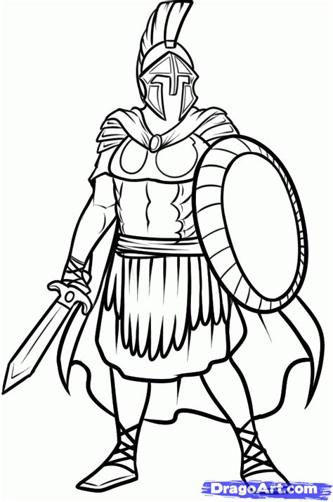 Soldier Drawing Outline by Soldier Cloak How To Draw A Soldier Soldier Step 10 Random