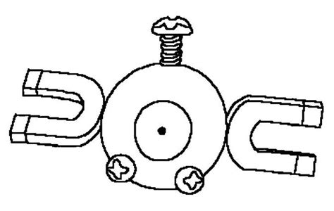 pokemon coloring pages voltorb pokemon coloring page 081 magnemite coloring pages