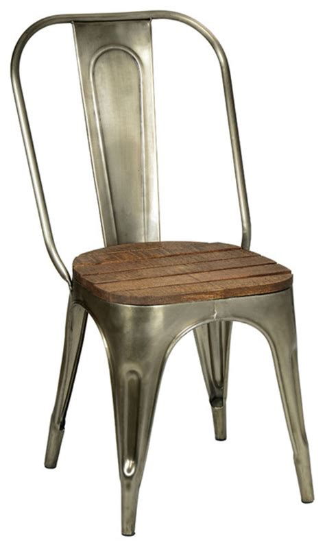metal and wood chair industrial dining chairs other