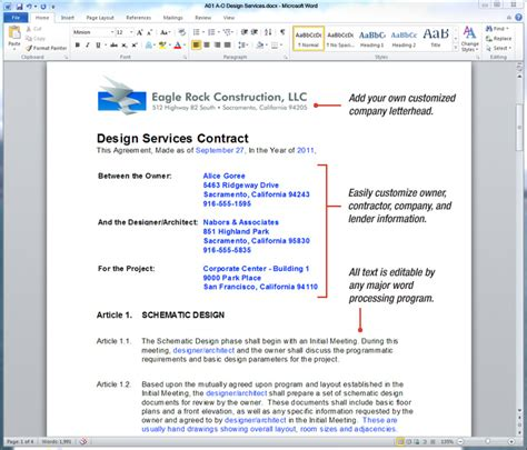 architect contract template uda constructiondocs architectural construction contract
