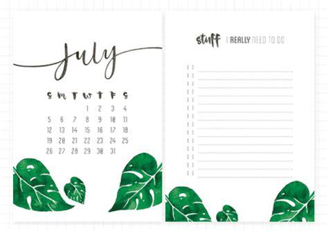 Printable Calendar 2015 Tumblr | helianthus chloelum free july 2015 printable calendar and