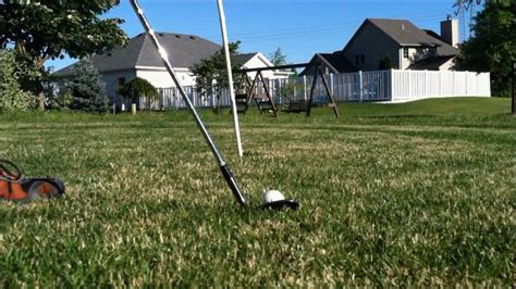 backyard golf hole make your own backyard golf course 9 hole chipping course youtube