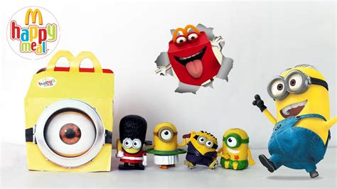 Minion Happy Meal Mcdonald Cards toys minions happy meal 2015 mcdonald