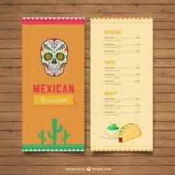 mexican restaurant menu vector premium download