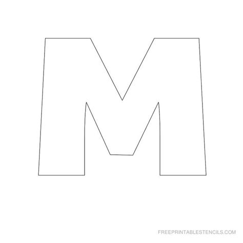 printable big letter stencil m printables pinterest