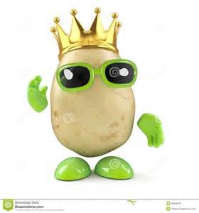 3d king potato stock illustration image 38958258