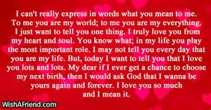 Break Letter Loved One can t really express in words short love letters
