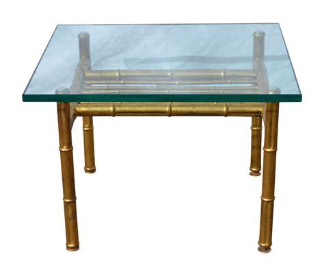 gold faux bamboo metal coffee table chairish