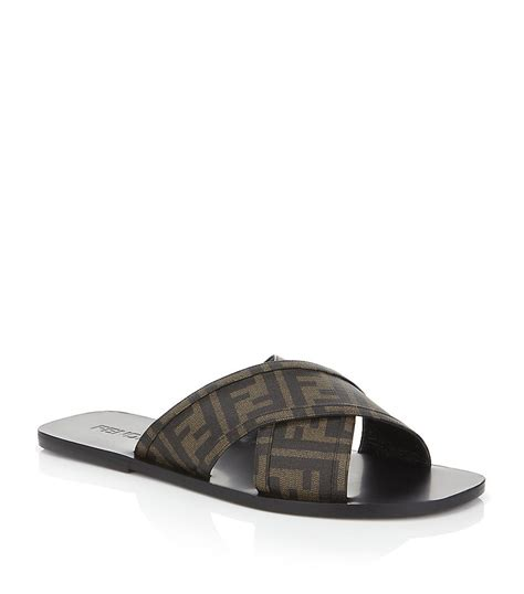 fendi sandals mens fendi crossover sandal in black for lyst