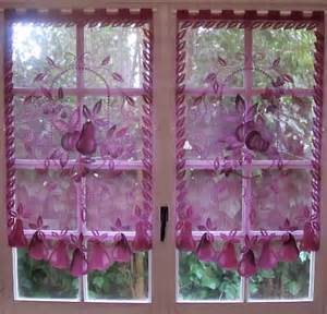Purple Kitchen Curtains Aubergine Lace Curtains Pair Curtains Purple Kitchen