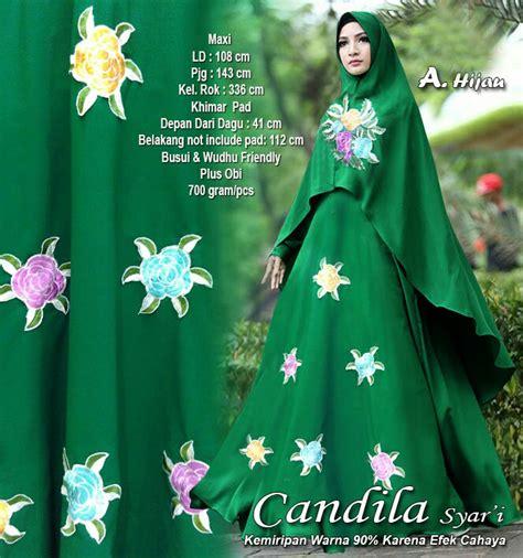 Gamis Muslim Syari Alda Hijau baju gamis pesta syari terkini candila hijau baju gamis terbaru