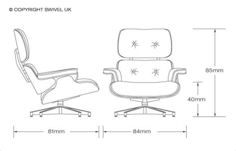 Eames Lounge Chair Measurements by Eames Lounge Chair Dimensions Woodworking Projects Plans