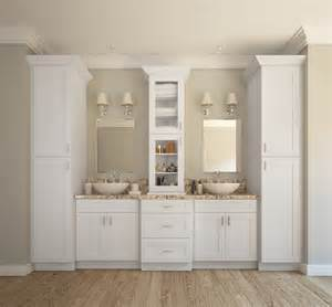 white shaker bathroom cabinets aspen white shaker ready to assemble bathroom vanities