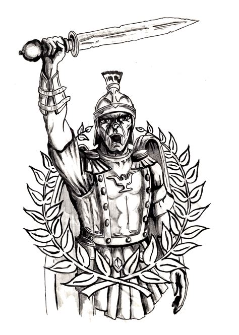 roman warrior tattoo designs ancient soldier tattoos www imgkid the image