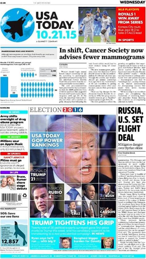 usa today crossword september 21 2015 usa today front page honors back to the future day