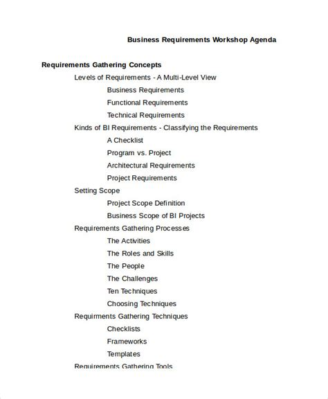 Workshop Agenda Template 6 Free Word Pdf Documents Download Free Premium Templates Workshop Template Doc