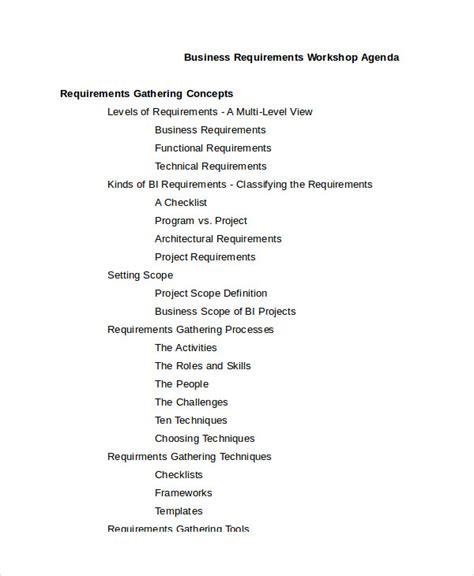 workshop agenda template   word  documents   premium templates
