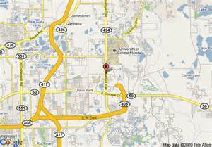 map of homewood suites by orlando ucf area fl orlando