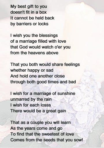 Bridal Shower Poems by Wedding Poem Liana Denny Quotes That I