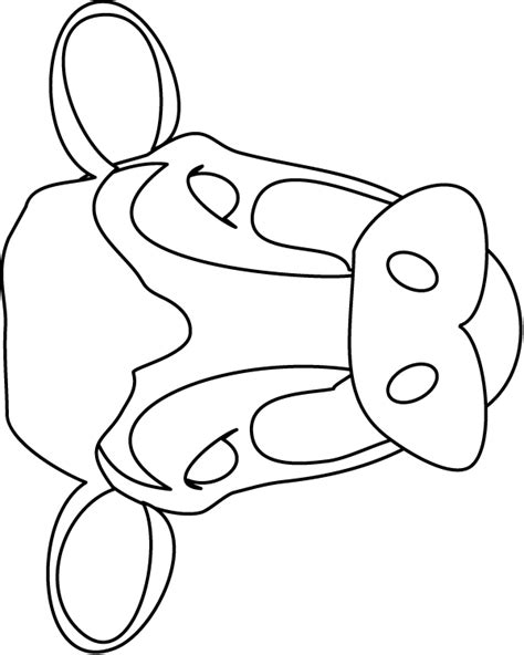 printable mask cow image detail for cow mask colouring pages farm train