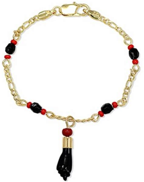 Azabache bracelets with corals. Gold filled. For adults 8 1/4