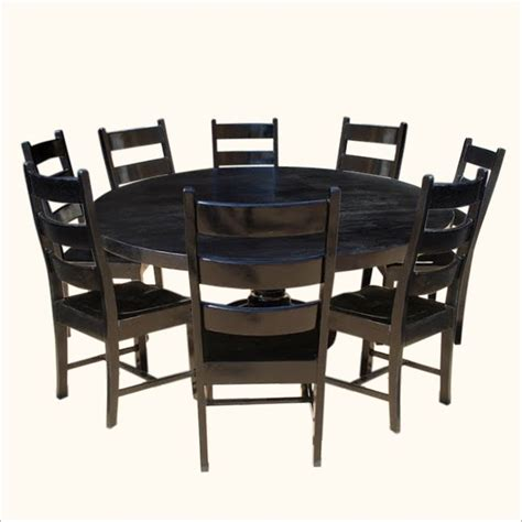 black wood round dining room tables upholstered chairs best 25 black round dining table ideas on pinterest