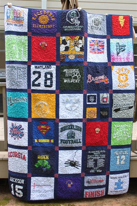 T Shirt Quilt Pattern by T Shirt Quilt Frecklemama