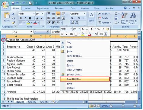 format row height excel 2007 excel 2010 wrap text autofit row height excel vba cell