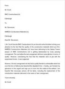 Complaint Letter Format For Material Complaint Letter 16 Free Documents In Word Pdf