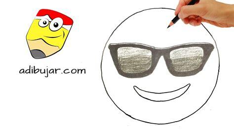 imagenes cool para dibujar c 243 mo dibujar un emoji cool con gafas de sol emoticones