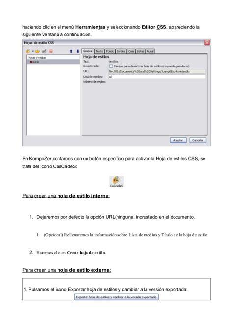 tutorial css kompozer tutorial kompozer