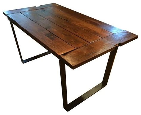 Dining Table Frame Steel Rustik Rehab Design Llc Rustic Reclaimed Barnwood Farm Table With Metal Frame View In Your
