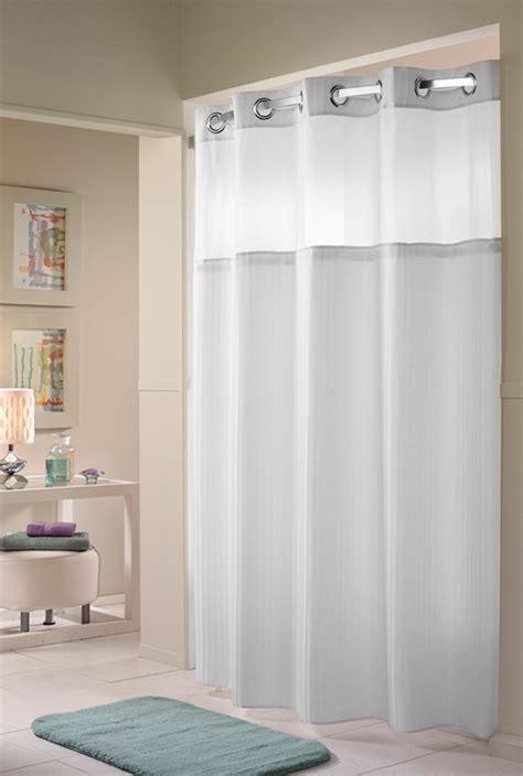 hilton hotel shower curtain herringbone hookless 174 shower curtain hilton to home
