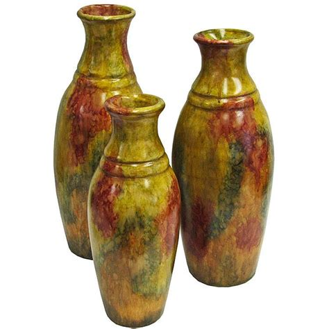 decorative pottery alcatraz plumado floor vase sfi02