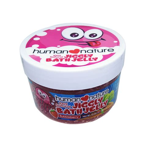 human nature natural kids jiggly bath jelly bubble berry