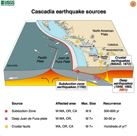 Outline The Causes Of Earthquakes Scheme by Pnw Earthquake Sources Overview Pacific Northwest Seismic Network