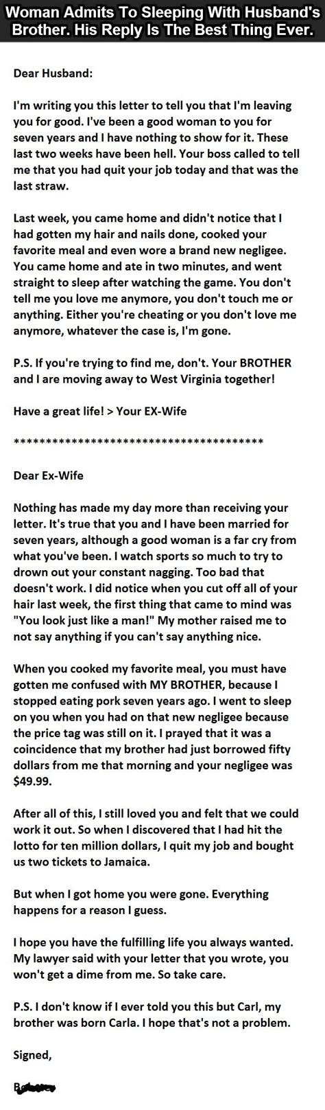 Greatest Divorce Letter The Best Divorce Letter This Nails It