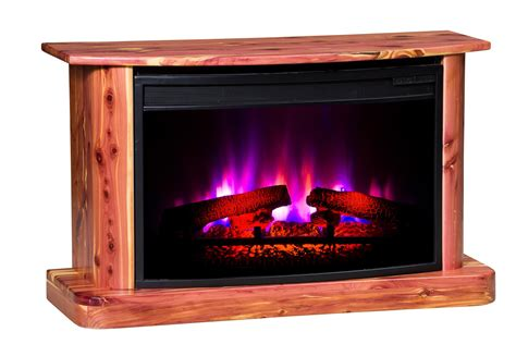 Rustic Electric Fireplace Rustic Cedar Electric Fireplace From Dutchcrafters Amish Furniture