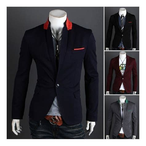 2019 S5Q Men'S Casual Top Design Sexy Slim Fit Blazers