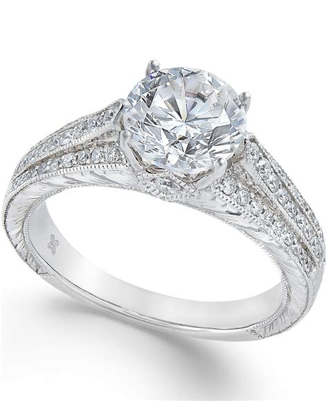 macy s certified engagement ring 1 1 5 ct t w