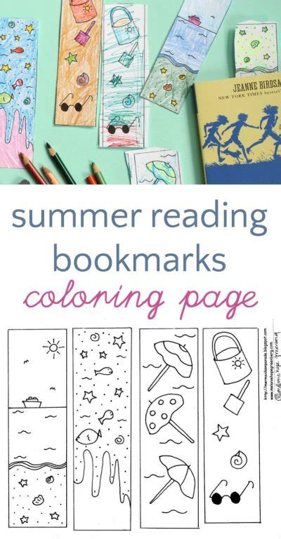 printable summer reading bookmarks summer reading bookmarks to color