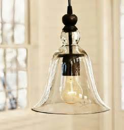 Hanging Kitchen Lighting Loft Antique Clear Glass Bell Pendant Lighting Contemporary Pendant Lighting New York By