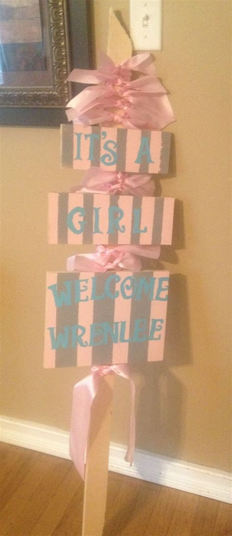 yard baby announcement images  pinterest baby